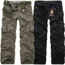 2019 High Quality Men's Cargo Pants Casual Loose Multi Pocke