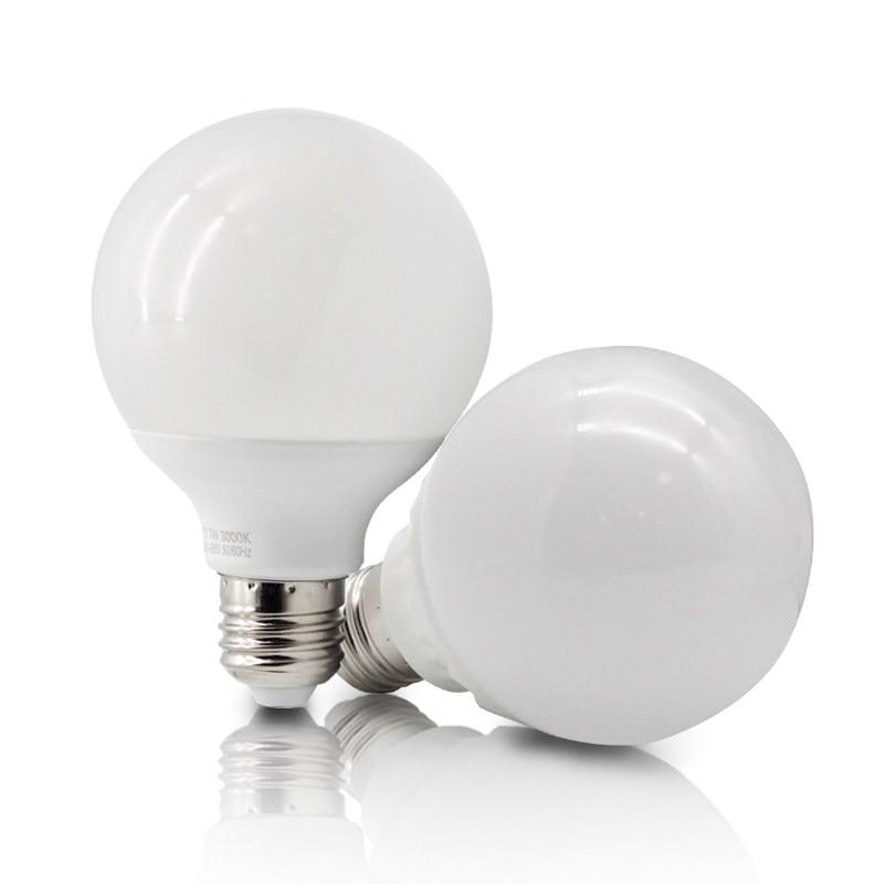Светодиодная лампа E27 220 В G95 в форме шара, светодиодсветильник Лампа 15 Вт 20 Вт 25 Вт, люстра, освещение, энергосберегающие лампы для светильник...
