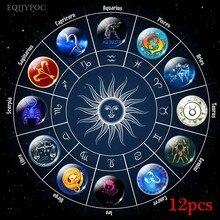 30mm zodiac Kühlschrank Magnet Glas 12 konstellationen Setzt Abnehmbaren Magnetischen Kühlschrank Aufkleber Hinweis Halter Magnete Home Decor