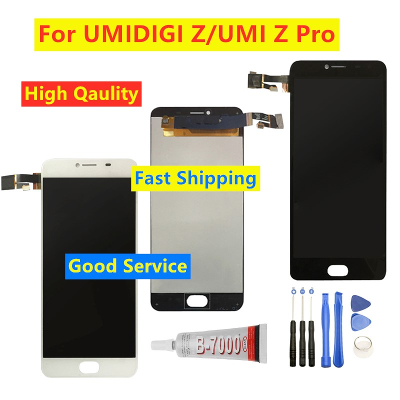 100% Tested LCD For Umidigi UMI Z Z1 / Z PRO LCD Display Touch Screen LCD Digitizer Glass Panel Replacement For UMI Z Pro