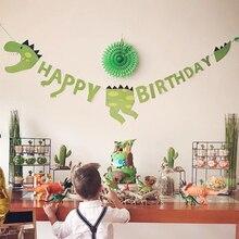 لوازم حفلات الديناصور لدينو كعكة القبعات العالية بالونات الديناصورات ملصقات الوشم ديكور ديناصور ديكور الحدث لوازم الحفلة للأطفال