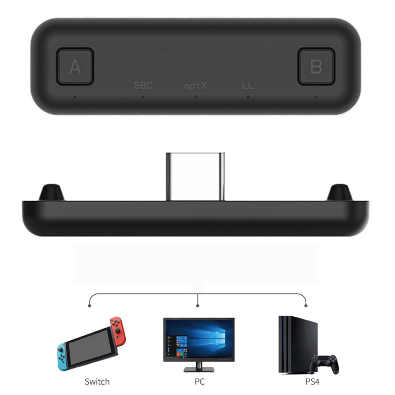 Bluetooth Wireless Audio Adapter For Bluetooth USB-C Plug-and-play Console Gamepad Receiver For Nintendo Lite Switch, Switch