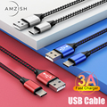 amzish 2m 3A Micro USB Cable Fast Charging Wire For Samsung Xiaomi Data Cable Mobile Phone Fast USB Charger Cable Android Cord