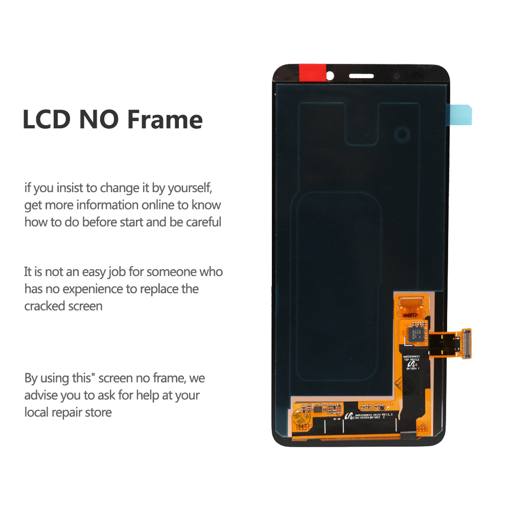 """Image 2 - Original For 5.6"""" Samsung A8 2018 A530 LCD Display Screen+Touch Screen Panel Digitizer Assembly Replacement-in Mobile Phone LCD Screens from Cellphones & Telecommunications"""