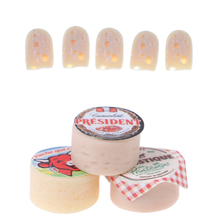 3Pcs Kids Gift Mini Cheeses for 1/12 Scale Dollhouse Simulation Miniature Kitchen Food Living Room Decoration Children Baby Toys