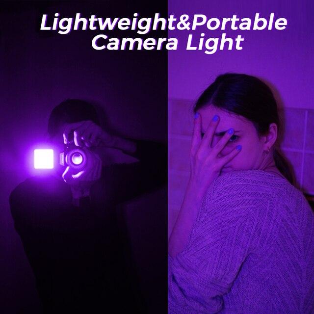 Ulanzi VL49 RGB Video Lights Mini LED Camera Light 2000mAh Rechargable LED Panel Lamp Photo Video Lighting  for Youtube Tik tok 6