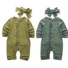 USA Newborn Infant Baby Girl Christmas Romper Clothes Playsu