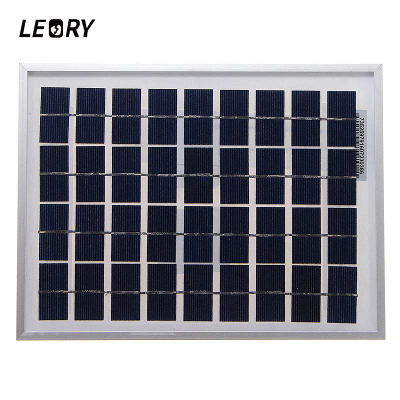 LEORY <font><b>5W</b></font> 18VSolar <font><b>Panel</b></font> Outdoor PolyCrystalline <font><b>Solar</b></font> Cells Module Charger For <font><b>12V</b></font> Battery Applied To DC LED lights For Camping image