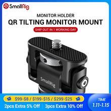 Smallrig liberação rápida câmera braçadeira de inclinação monitor montagem com sapata fria dupla evf suporte montagem para vlogging vídeo rig 2431