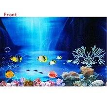 3D Drawing Fish Tank Background Sticker Double-faced Picture Paper Home Garden Aquarium Decoration Aquariu Decorative