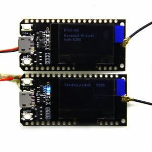 Image 4 - TTGO 433/470/868/915Mhz ESP32 לורה OLED 0.96 אינץ תצוגת Bluetooth WIFI ESP 32 פיתוח לוח מודול 1 סט = 2pcs