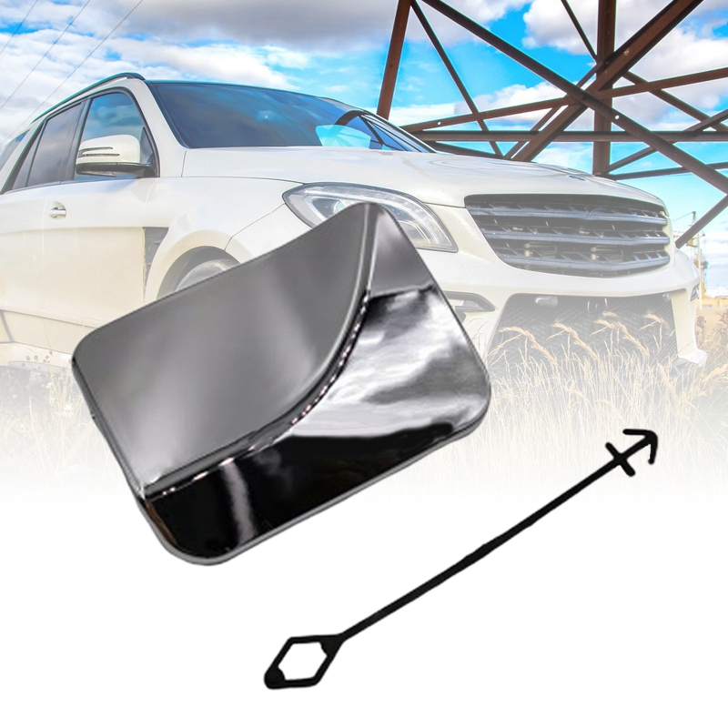 Camisin Front Bumper Tow Hook Eye Chrome Cover for Mercedes Mb Ml W166 1668851823 166 885 1823