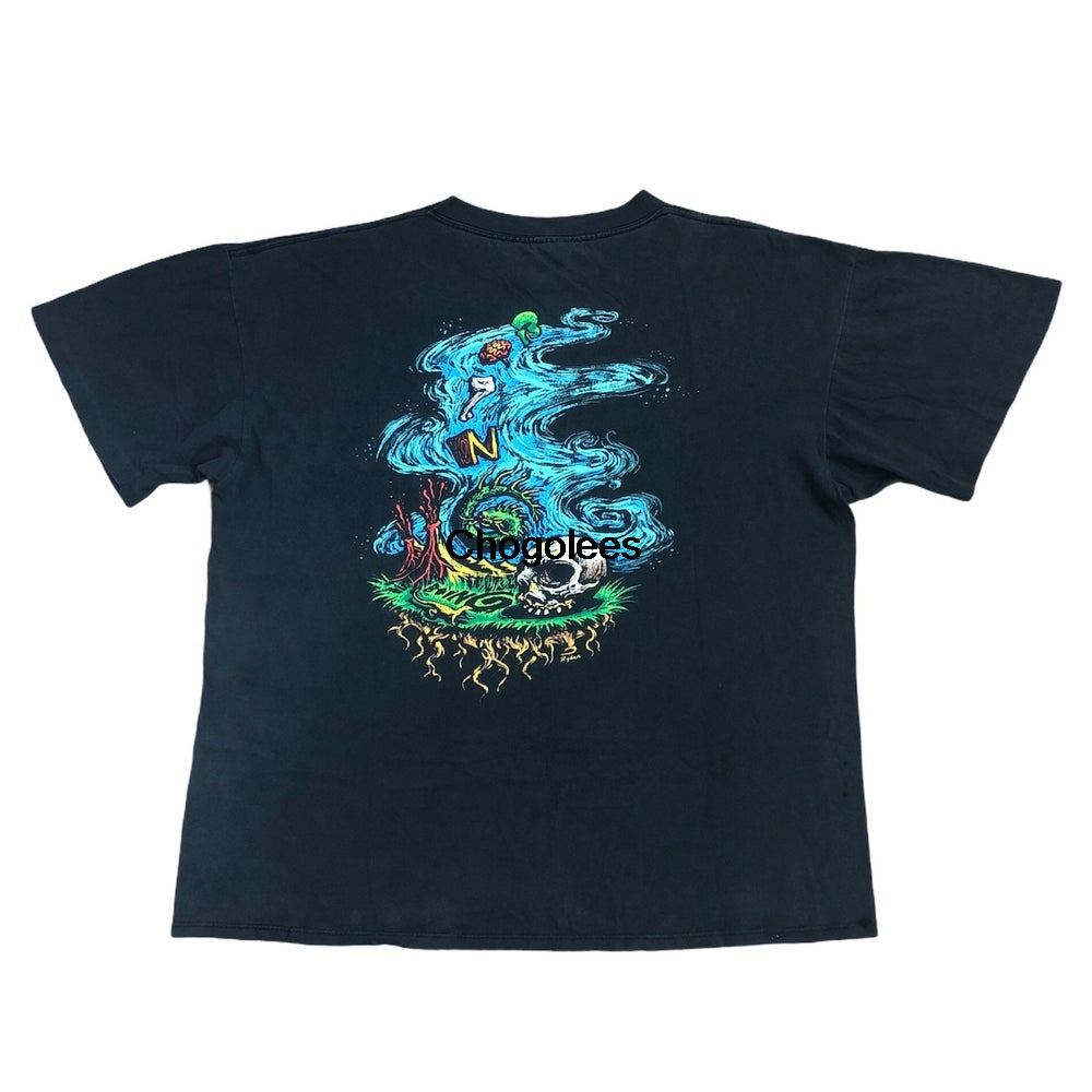 Винтажная Футболка 90u2019S Oingo Boingo ShirtNew Wave Band, размер XLDead Skull