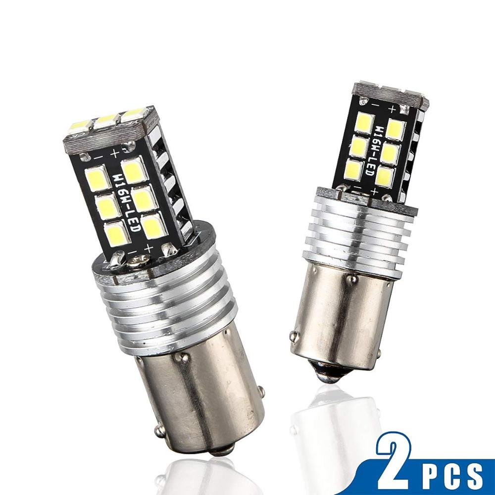 2pcs Red T20 7443 Car LED Brake Stop Tail Light 15LED LED Canbus Bulb 12V Set