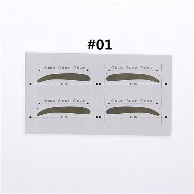 16PCS Professinal Eyebrow Template Stickers Eye Brow Eyebrow Stencils Drawing Card Stencil Card Easy Makeup Beauty Tools 3