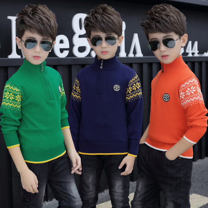 Boy's clothing Winter Cotton products clothing Boy's Sweater  pullover Sweater  Kids clothes children's Sweater winter Keep warm 5