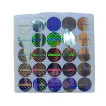 Etiqueta original do holograma do laser de 300 pces 30mm tamanho grande redondo segurança tamper garantia evidente anti-falso