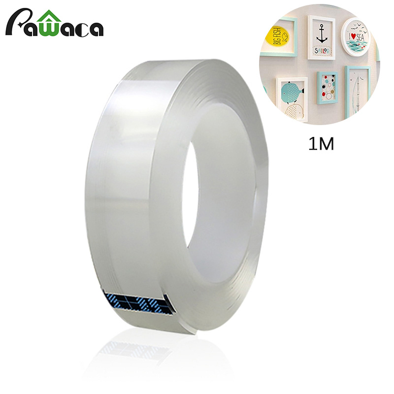 Hot Double-sided Nano Adhesive Tape Traceless Washable Removable Tapes Anti-slip Fixed Adhesive Reusable Transparent 1/2/3/5 M
