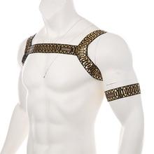 Мужское нижнее белье с ремнем на грудь, сексуальный костюм бандаж, высокая эластичность, ночная Клубная одежда, мужская одежда для выступлений или повязки на руку, камуфляж