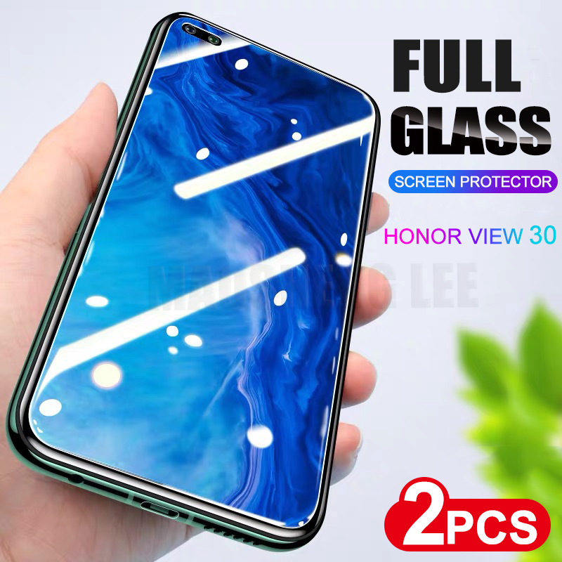 2pcs/lot Tempered Glass For Huawei Honor View 30 Pro V30 Screen Protector 9H Anti Bluray Glass For Honor View 30 Protective Film