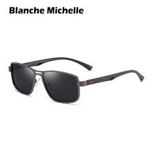 Солнцезащитные очки мужские очки солнцезащитные мужские солнцезащитные очки с оправой из сплава, поляризационные, UV400, Ретро стиль, прямоугольные, с коробкой очки для вождения солнечные очки sunglasses