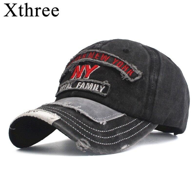Xthree  Men's Baseball Cap For Women Snapback Hat Embroidery Bone Cap Gorras Casual Casquette Men Baseball Hat 2020 New