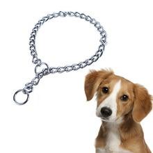 Stainless Steel Metal Pet Dog Training Choke Collar Slip Snake Chain Collars for Golden Retriever Large Necklace Wholesale