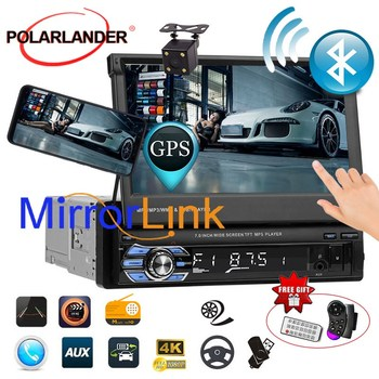 7 Stereo GPS Touch Screen Head Unit 1DIN Cassette Player Autoradio Car Radio USB/AUX/SD Bluetooth Mirror Link Auto Tapes image