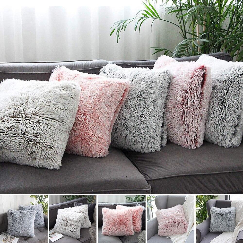 43x43cm Flower Satin Silky Pillowcase Pillow Sham Sofa Cushion Cover Grey