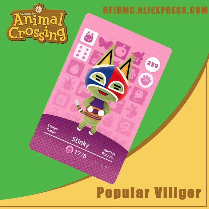 259 Stinky Animal Crossing Card Amiibo For New Horizons