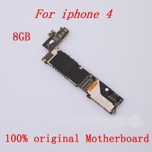 Оригинальная материнская плата разблокированная для iPhone 4 Хорошая рабочая материнская плата 8 ГБ с полными ЧИПАМИ логическая плата IOS+ инструмент