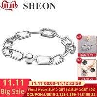 New Pandora Me Link Bracelet 925 Sterling Silver Sleek Bangle Collocate Pandora Micro Dangle Charms Fine Jewelry For Women/Men