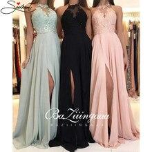 OLLYMURS 2020 spring/summer New European/American Criss-Cross Solid Color Evening Dress Long Dress Chiffon Dress Evening Gown