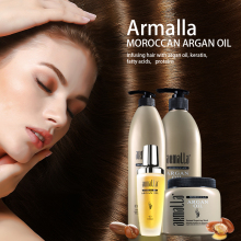 New Products Best Selling 4pcs Armalla Moroccan Argan Oil 500ml Shampoo+500ml Conditioner+500ml Hair Mask 100ml Argan Oil argan hair shampoo