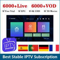 Iptv Francia 6000 Hd in Diretta di Abbonamento Iptv Android Belgio Francese Spagnolo Italia Svezia Germania Portogallo Iptv M3u Smart Tv Ip tv