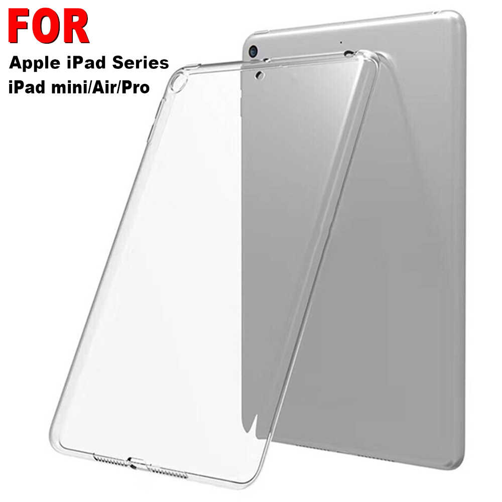 "Case Voor iPad mini/Air/Pro 9.7 ""10.2"" 10.5 ""2019 TPU Transparante Zachte Siliconen Shockproof cover Case Beschermende Shell"