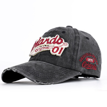 цена на 2020 Go Dad Hat Make Old Washed Baseball Caps Cotton Orlando Embroidered Alphabet Men's Duck Tongue Sold Quickly