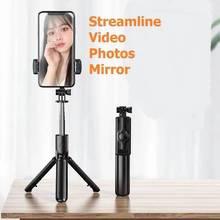 S03 Detachable Clip Bluetooth Selfie Stick Universal Horizontal and Vertical Tripod Selfie Stick Mobile Phone Bracket Photograph