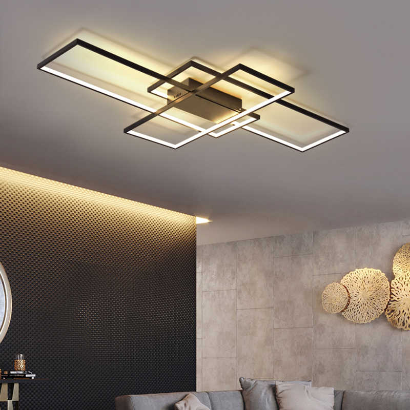 NEO GLeam New Black or White Aluminum Modern Led Chandelier For Living Room Bedroom Study Room AC85-265V Ceiling Chandelier