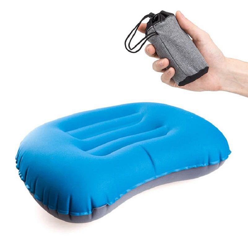 Ultralight Camping Pillow For Sleeping Ergonomic Inflatable Pillow Neck Lumbar Support Travel  Pillow For Hiking Backpacking