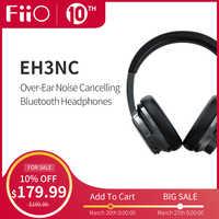 FiiO EH3NC Noise Cancelling Bluetooth 5.0 Over The Ear Hi-Fi Deep Bass Headphones with aptX LL/aptX HD/LDAC/Mic support,50H Play