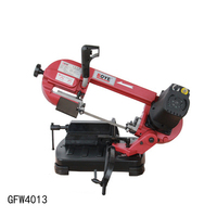 Gfw4013 serra de fita de metal 5 polegada portátil serra de fita máquina