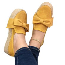 Women Flats Shoes Platform Sneakers women 2020 Slip On Bow Flats Leather Suede Ladies Loafers Moccasins Casual Shoes big size 43