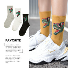 New Autumn Winter Cartoon Dinosaur Cotton Breathable Girls Female Harajuku Pop Funny Socks Women