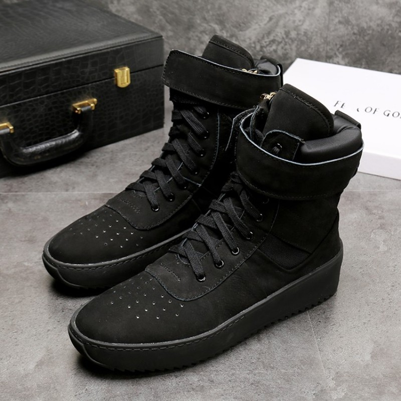 Brand Runway Men Pink High Top Sneakers Genuine Leather Flats Platform Shoes Skateboard Jogging Trainers Ankle Boots Plus Size