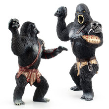 High Qualit Chimpanzee Statue PVC Chimpanzee Solid King Kong Model Garage Kits King Kong Doll Collection Toys Children Gifts