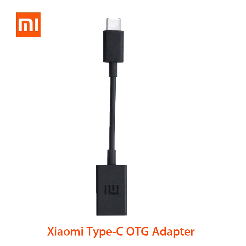 Original Xiaomi Type C OTG Cable Adapter USB Converter For Xiaomi Mi A3 Cc9 Black Shark Pocophone Redmi Note 8 7 K20 Pro Realme