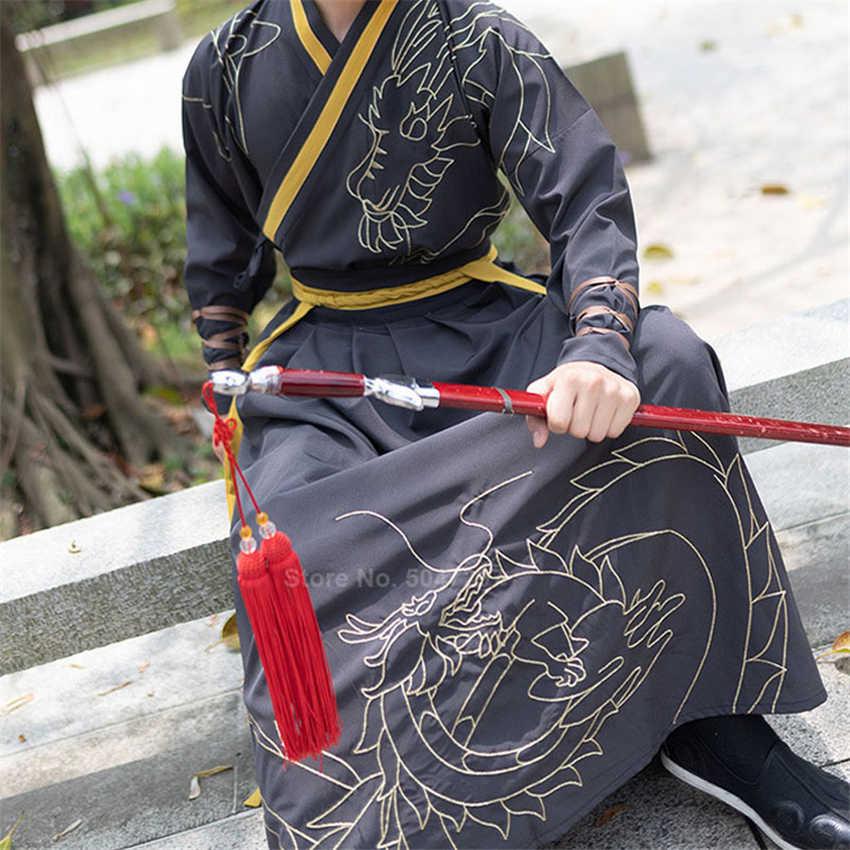 กิโมโนผู้ชาย SAMURAI เครื่องแต่งกายสไตล์ญี่ปุ่น Yukata Haori ผู้หญิงชุดเครื่องแต่งกายแบบดั้งเดิมเย็บปักถักร้อย Dragon VINTAGE PARTY คอสเพลย์