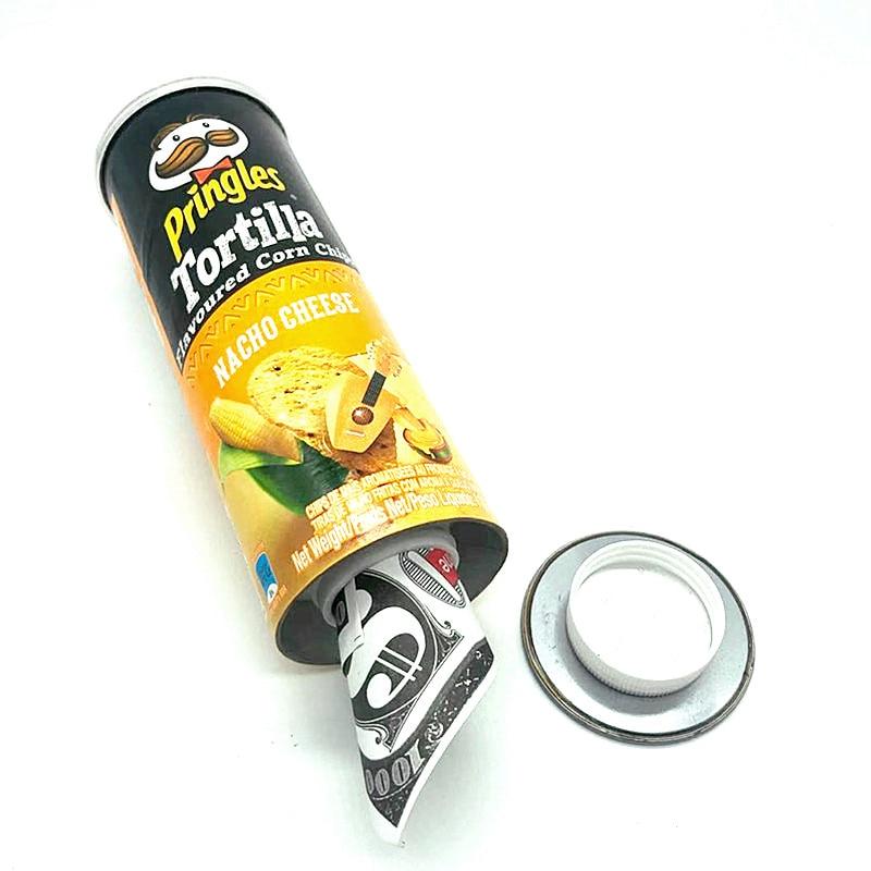 Tortilla Flavoured Corn Chips Diversion Safe Stash Box Crisps Hidden Safe Pringles With A Food Grade Smell Proof Bag