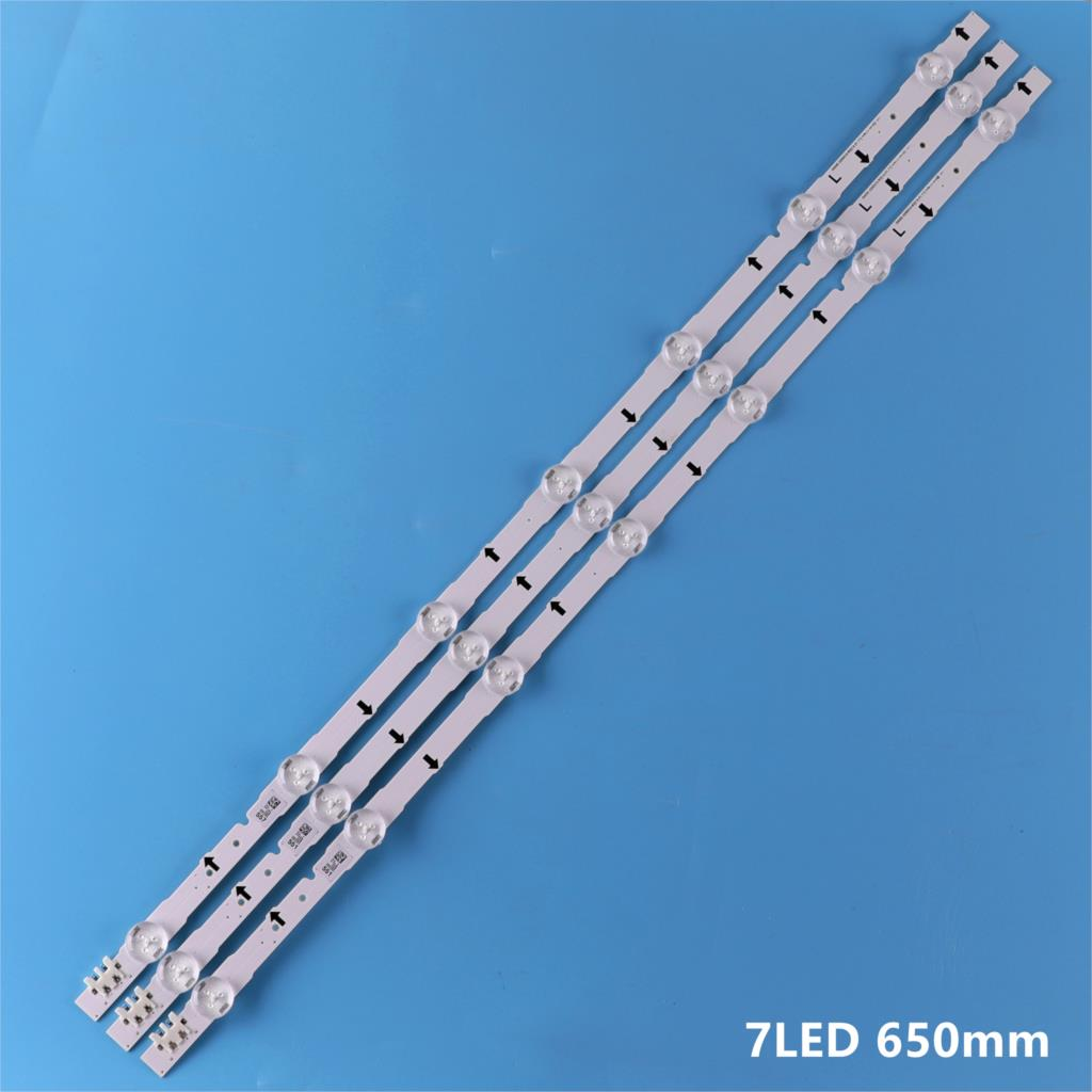 (New Kit)3pcs 7LEDs 650mm LED Backlight Strip For Sam Sung 32Inch TV 2014SVS32HD D4GE-320DC0-R3 CY-HH032AGLV2H